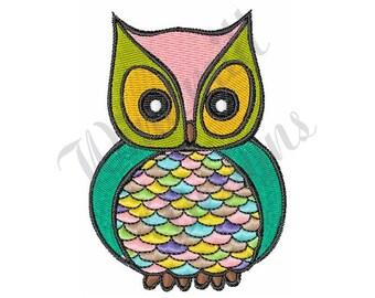 Owl Bird - Machine Embroidery Design