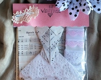 Vintage Shabby Chic DIY Embellishment Kit