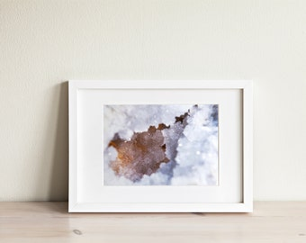 Clear Quartz Art / Crystal Print / Crystal Photography / Crystal Decor / Crystal Art / Gem Art / White Art