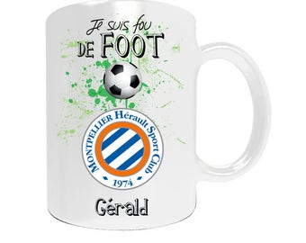 Montpellier football league1 with your name personalized mug