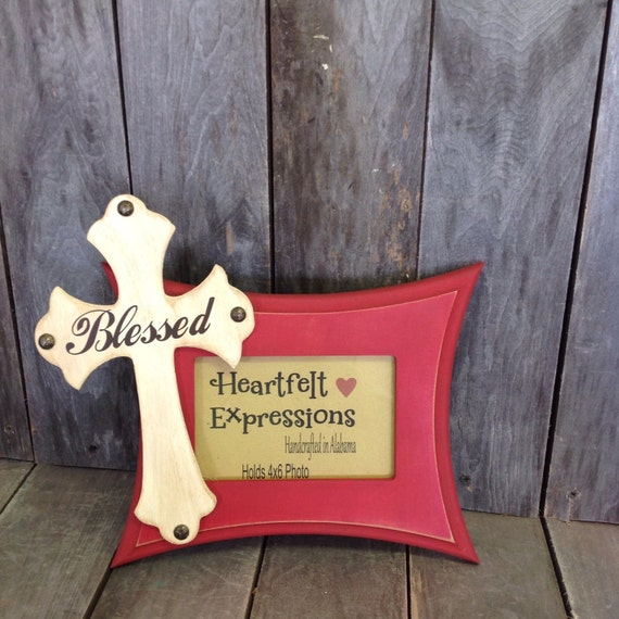 Blessed Wood Distressed Picture Frame Rustic Photo Frame