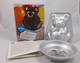 Mini Stand up Bear Pan, Panda, Polar Bear, Candy Bear, Cereal Treat Bear, Teddy Bear, Baking Mold