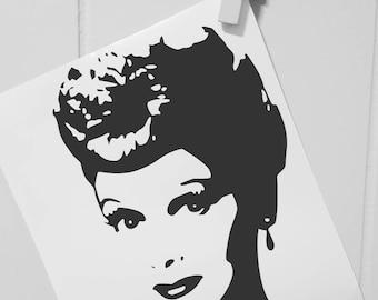 I Love Lucy Car Decal I Love Lucy Decal I Love Lucy Sticker Lucille Ball Car Decal Lucille Ball Decal Lucy Car Decal Lucy Decal Lucy Sticker