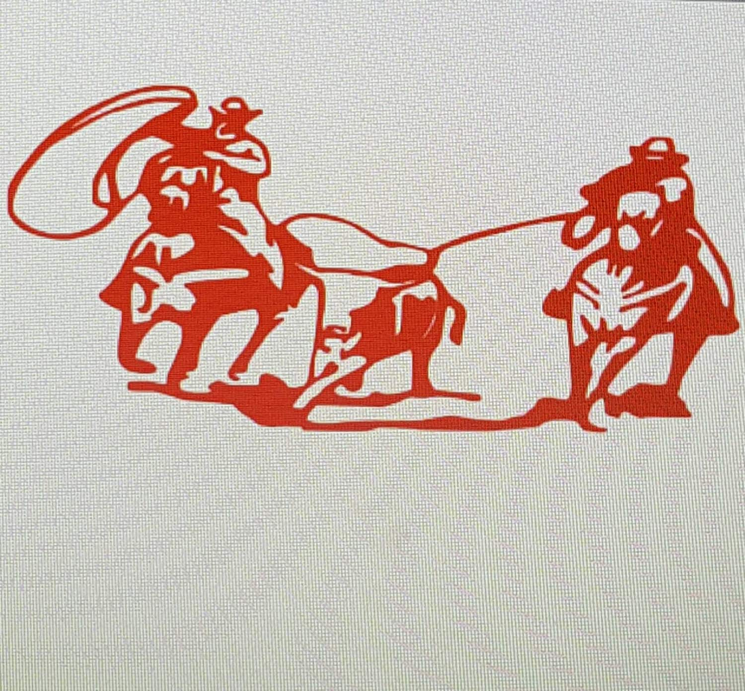Rodeo Team Roping Decal Team Roping Car Decals Team Roping