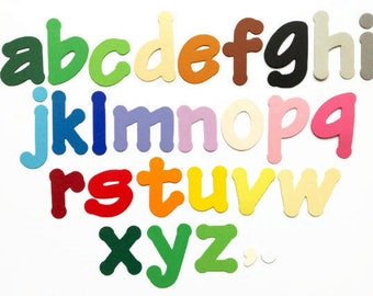 colorful cardstock paper letters die cut alphabet lower case letters 2 tall 78 pieces