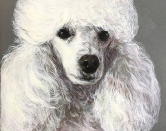 Custom Dog Portrait, Acrylic on 9x12 Wooden Panel, Custom Pet Portrait, Gift Ideas