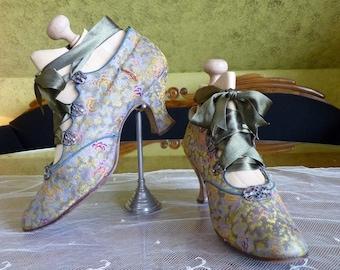 1912 Evening Shoes, Antique Shoes, Edwardian Shoes, Antique Pumps, Andreas Neider, Vienna