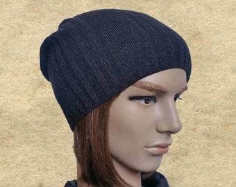 Mens hats beanies, Men's knit beanie, Beanie for men, Slouchy mens beanie, Slouch hat cap men, Hipster clothing hat, Grey wool hat men