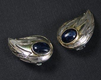 Boho Jewelry for Wife, Silver Clip On Earrings Vintage, Silver Feather Earrings Clip On, Silver Boho Earrings, Vintage Earrings for Women