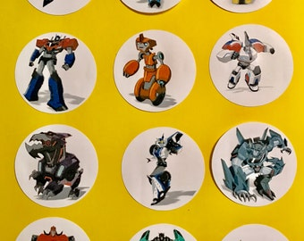 Precut Edible Transformer Characters to decorate your cupcakes, cookies or cake with.