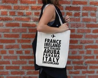 Custom Countries Journey Travel Bag