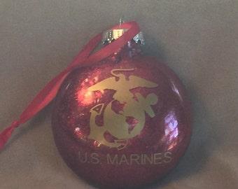 US Marines Disc Ornament