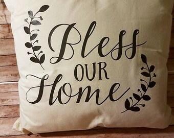 Decorative Throw Pillow, Decorative Pillow, Throw Pillows, Pillow Cover, Decorative Throw, Blessed Throw Pillow, Living Room Throw Pillow