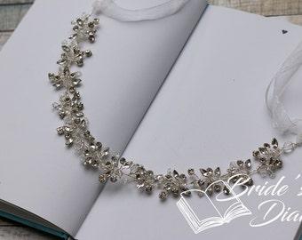Wedding rhinestones hair jewelry, bridal wreath, wedding hair vine