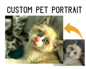 Siamese Art, Siamese Painting, Siamese Artwork, 8x10 Siamese Art, 11x16 Cat art, 16x20 Siamese Art, digital art, acrylic art, custom art