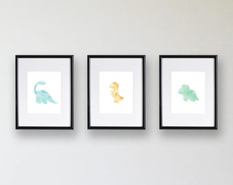 Dinosaur Trio Printable - Wall Art
