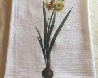 Daffodil flour sack towel