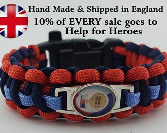 Help for Heroes Badged Survival Bracelet Tactical Edge 10% Goes to the Charity