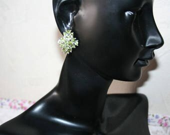 Peridots set Sterling Silver earrings