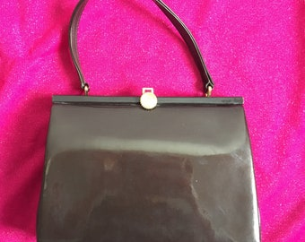 Vintage 1960's Winsley Brown Patent Handbag