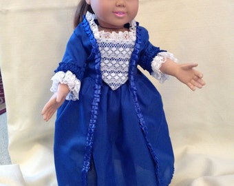 "18"" doll (Am Girl) 1700 Virginia ball gown"