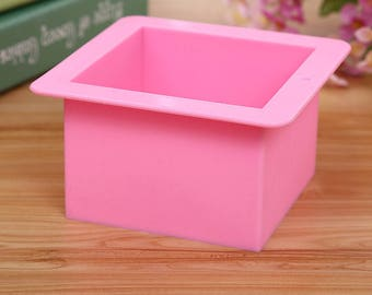 Square silicone soap mold 500ml