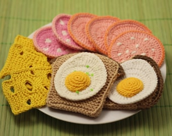 Knitting Pattern for Chocolate / Swiss Rolls / Cakes - Knitted Play Food, Toy...
