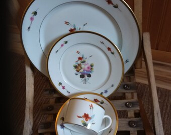 "Four place settings of CH Field Haviland Limoges in the pattern ""Winterthur"""
