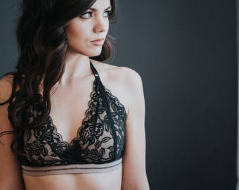 Black Push up Supportive Lace Bralette