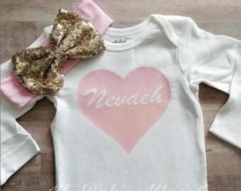 Heart Name Bodysuit