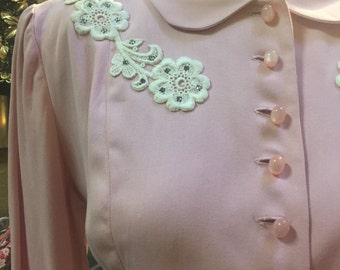 Pretty in pink: a charming little 1950s gabardeen suit