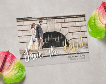 CUSTOM Save the Date Postcard, Custom Photo Save-the-date Card, Announcement Invite, Photo Wedding Postcard, DIGITAL FILE 5x7