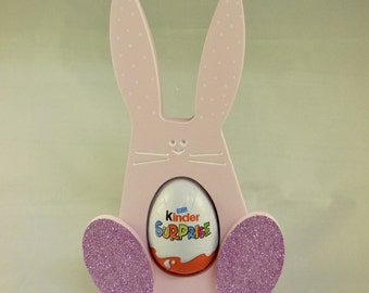 Easter egg rabbit gift, cream egg, kinder egg holder
