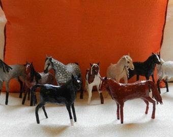 Cute horse figurines