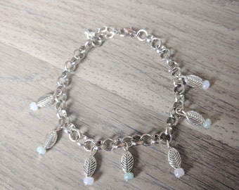 Bracelet with charms, charmbracelet, yoga bracelet