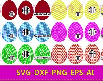 60 % OFF, Easter Egg SVG, Easter Egg Monogram Frame, Easter Egg Split Monogram Frame, Easter Eggs Cut File, Svg, Eps,Ai, Dxf, Silhouette