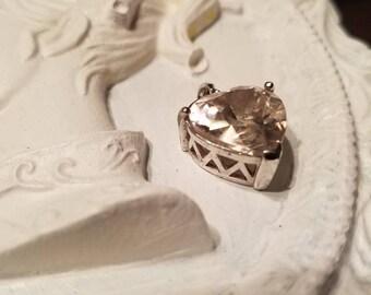 Sweet Little Heart Pendant Stamped 925 Sterling silver