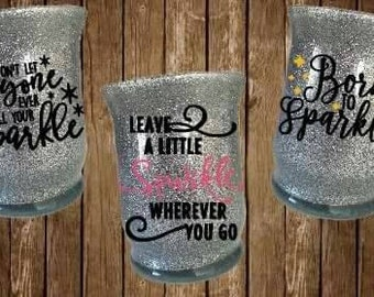 Glitter desk organizer, pen organizer, makeup brush holder