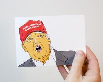 Donald Trump Christmas Card | Make Christmas Great Again Card | Donald Trump Card |  Funny Christmas Card | Political Christmas Card