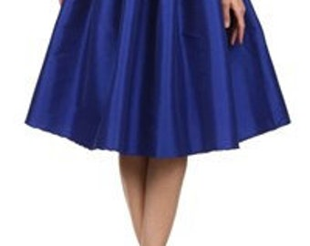 Vintage Midnight Blue pleated skirt