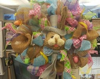 Spring bunny Easter wreath