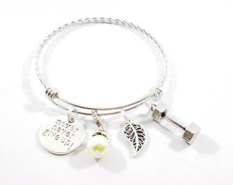 Never Give Up Bangle Bracelet