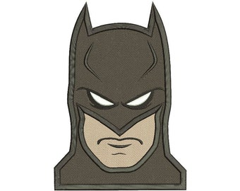 Batman Embroidery Design Filled Stitch 3 sizes Instant Download