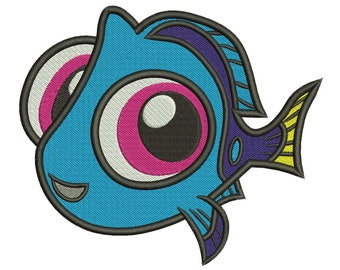 Baby Dory Embroidery Design 3 sizes Instant Download