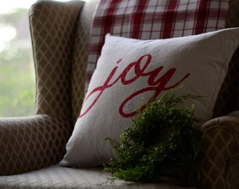 "Joy - pillow cover (18""x18"")"