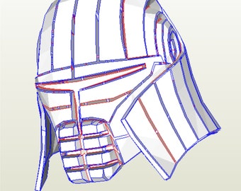 Star wars Sith stalker helmet pattern for pepakura to nbuild your own DIY