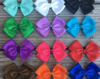 Hair Bows / Glitter Center Bows / Bows
