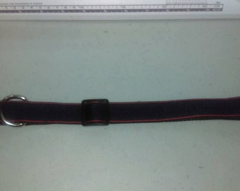 Navy & Red Quick Release Dog Collar