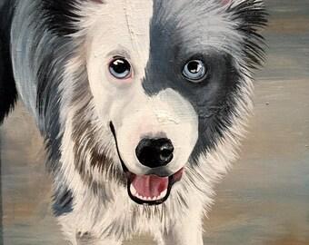 Acrylic Pet/Dog/Cat Portrait on Canvas