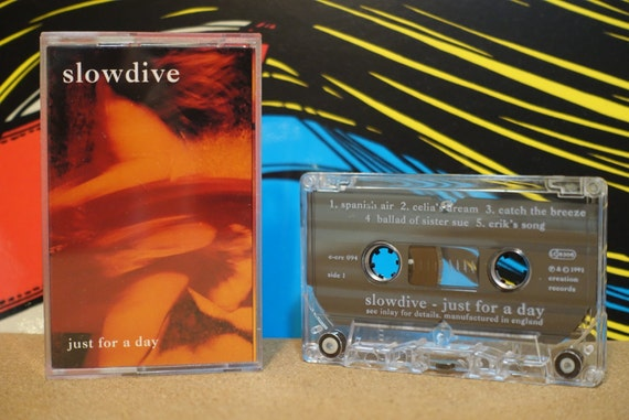 Just For A Day by Slowdive Vintage Cassette Tape